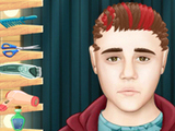 BIEBER EN LA PELUQUERIA